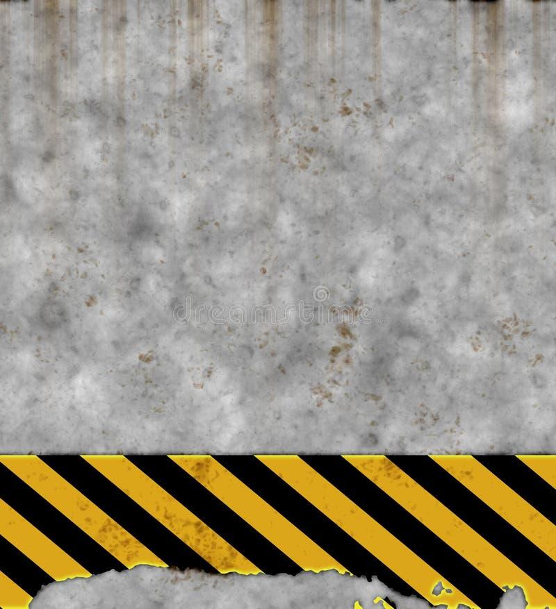 Altes Gefahrzeichen auf Wand   lizenzfreie abbildung