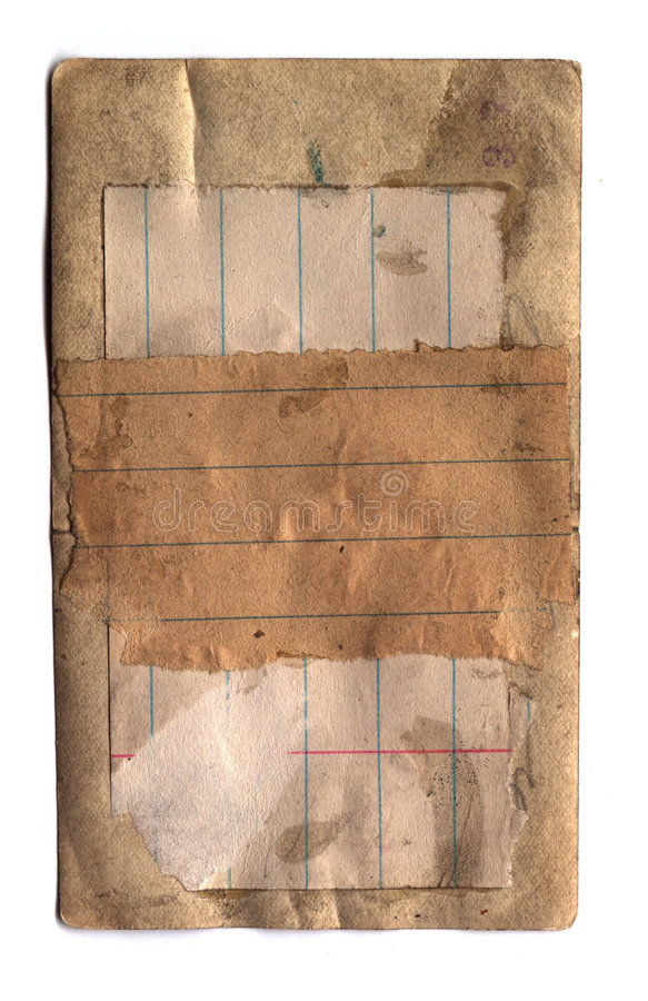Altes geklebtes Papier stockbild