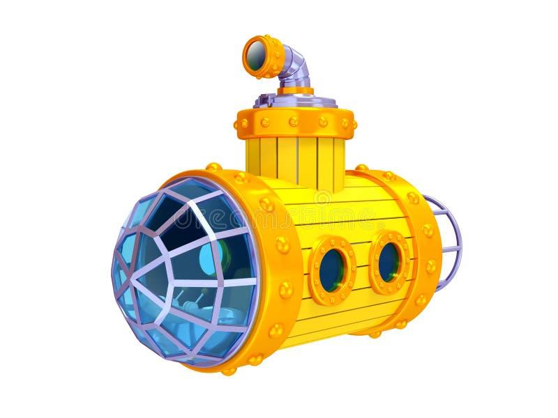 Altes gelbes Unterseeboot lizenzfreie abbildung