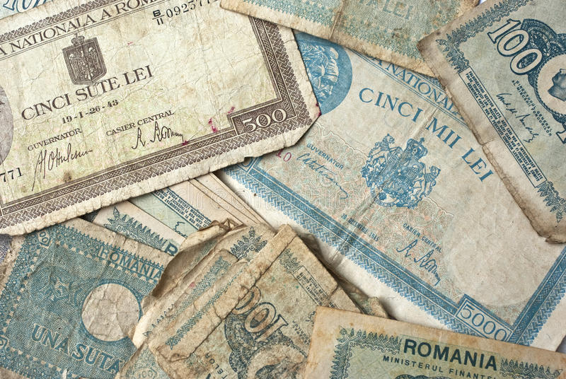 Altes Geld lizenzfreie stockfotos