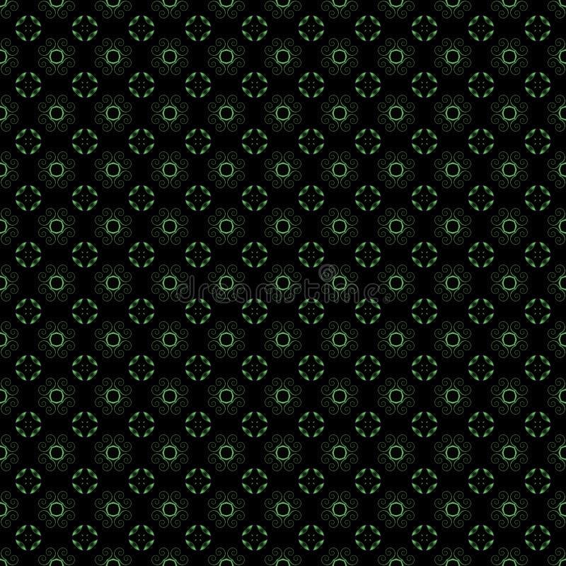 Altes geometrisches Muster in der Wiederholung Gewebedruck Nahtloser Hintergrund, Mosaikverzierung, ethnische Art vektor abbildung