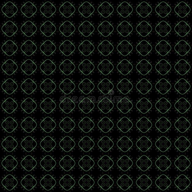 Altes geometrisches Muster in der Wiederholung Gewebedruck Nahtloser Hintergrund, Mosaikverzierung, ethnische Art lizenzfreie abbildung