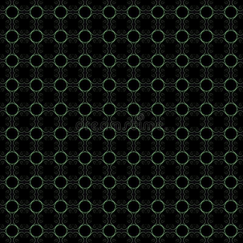 Altes geometrisches Muster in der Wiederholung Gewebedruck Nahtloser Hintergrund, Mosaikverzierung, ethnische Art stock abbildung