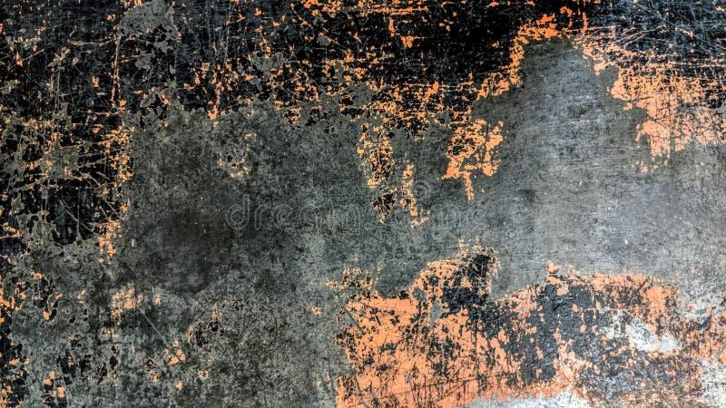 Altes gestreiftes Stahlblech des Schwarzen und der Orange stock abbildung