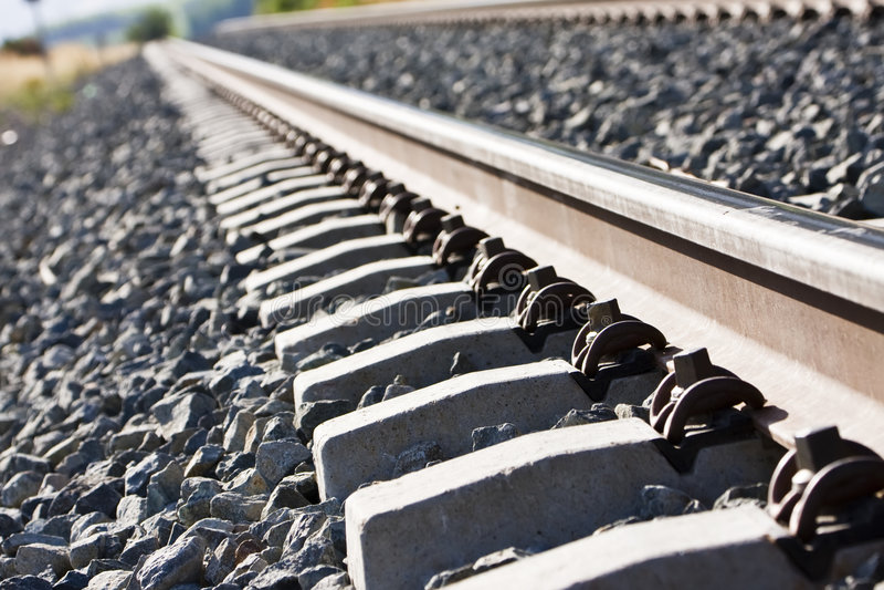 Altes Gleis stockfoto