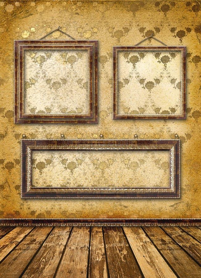 Altes Gold gestaltet viktorianische Art lizenzfreie abbildung
