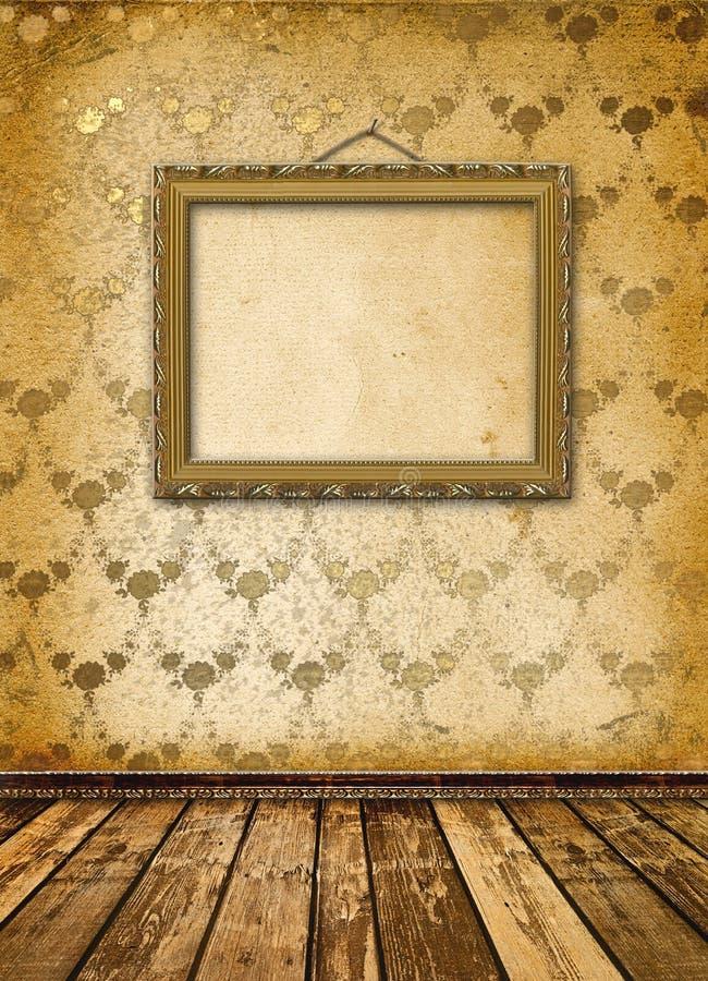 Altes Gold gestaltet viktorianische Art stock abbildung