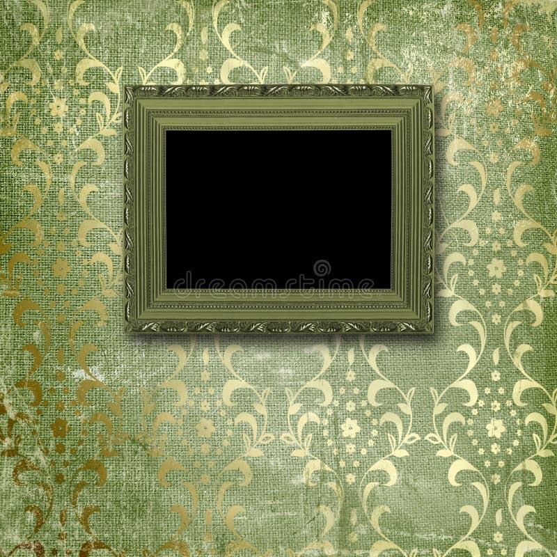 Altes Gold gestaltet viktorianische Art vektor abbildung