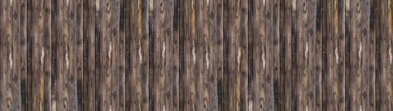 Altes graues hölzernes Brettbraun des Panoramas mit vertikalen Linien des Patinabaums stockfoto