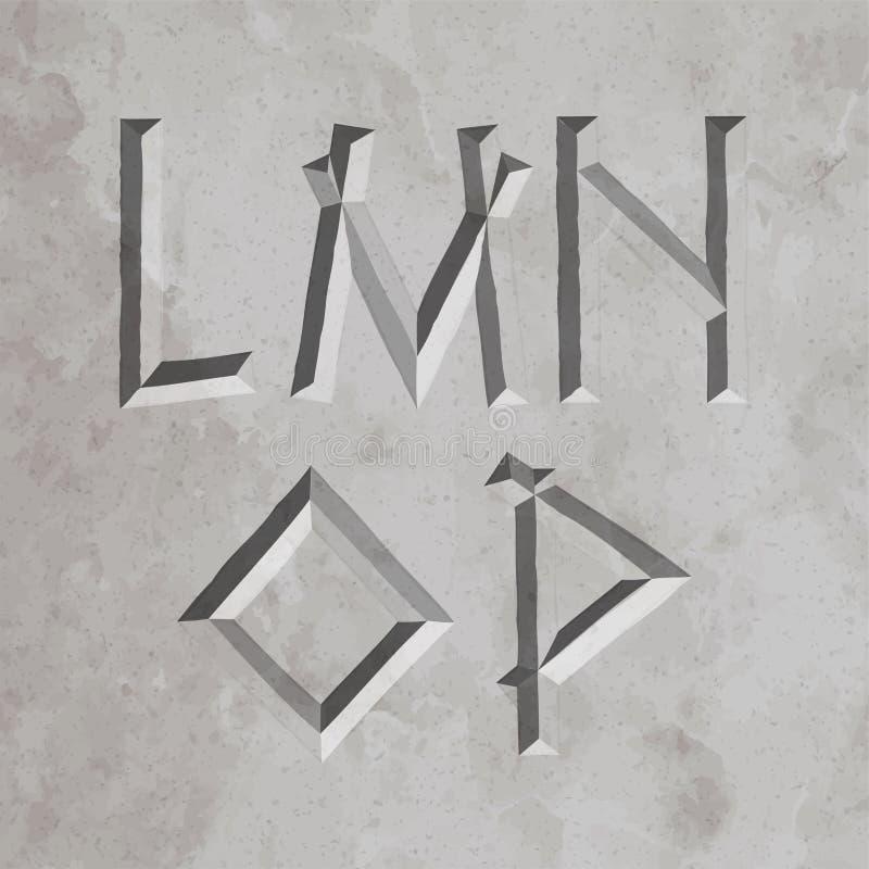 Altes Griechenland-Artbuchstaben vektor abbildung