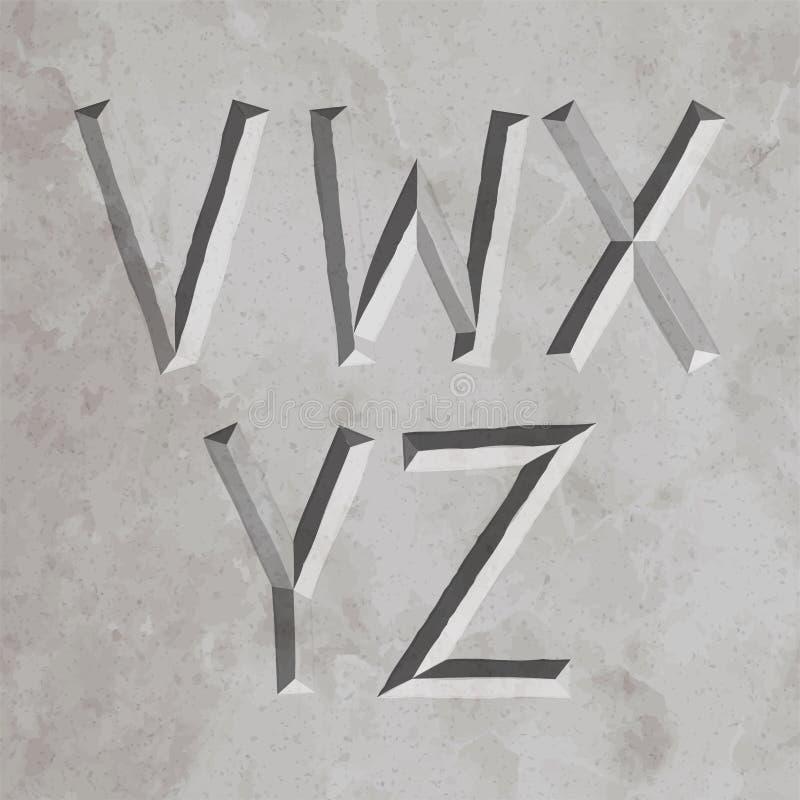 Altes Griechenland-Artbuchstaben stock abbildung