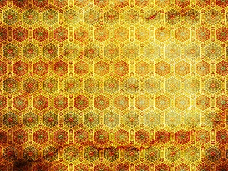 Altes grunge Blumenhintergrund lizenzfreie stockbilder