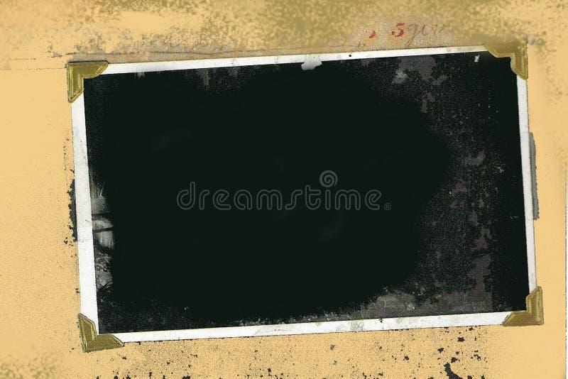 Altes Grunge Foto-Feld lizenzfreie abbildung