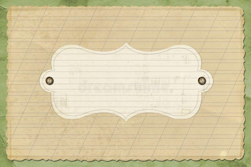 Altes grunge Papier lizenzfreie abbildung