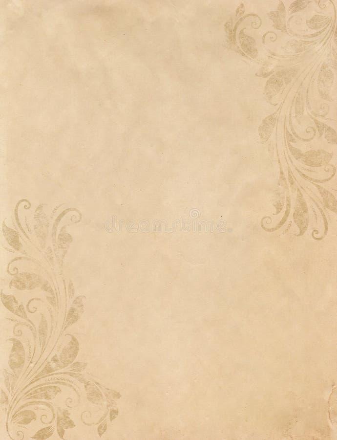 Altes grunge Papier mit Weinlese Victorianart lizenzfreie stockfotografie