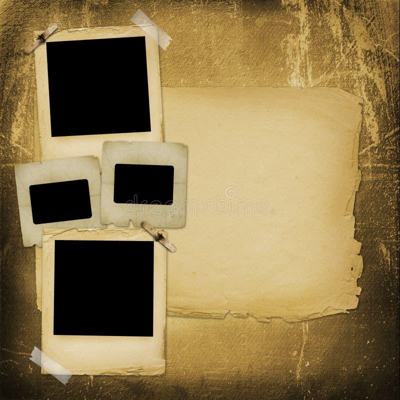 Altes grunge Papier schiebt auf den Hintergrund stock abbildung