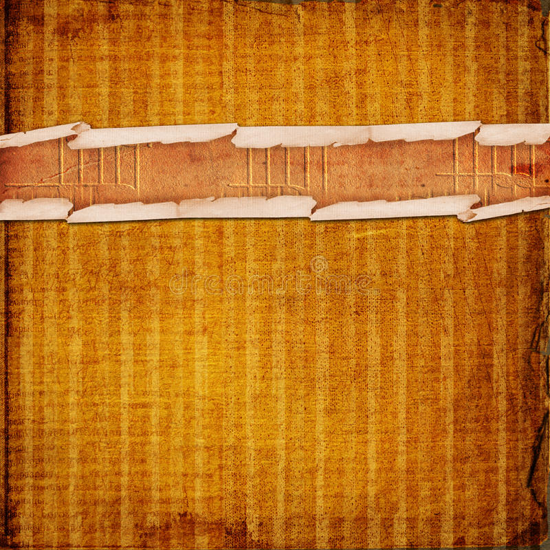 Altes grunge Rollepapier vektor abbildung