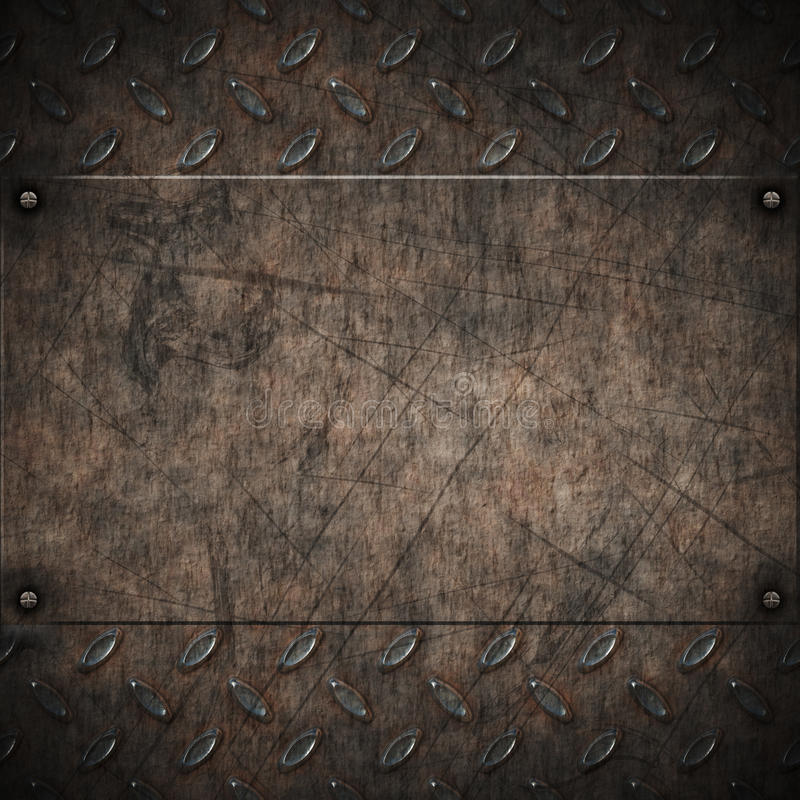 Altes grungy Diamantplattenmetall vektor abbildung