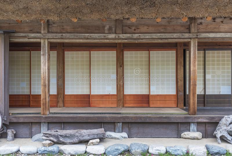 Altes Gutshaus in Japan lizenzfreies stockbild