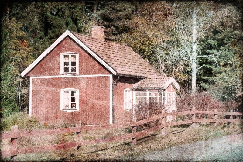 Altes hölzernes Bauernhaus in Schweden stockfotos
