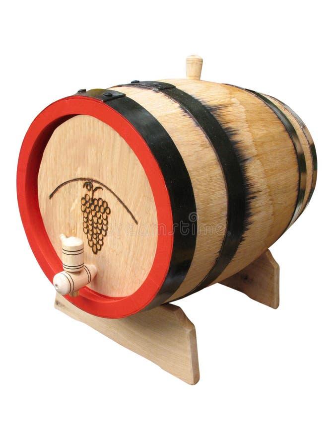 Altes hölzernes Faß der Weinlese getrennt über Weiß stockfotos