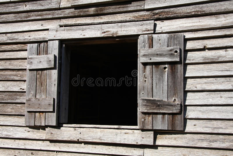 Altes hölzernes Fenster stockfotografie