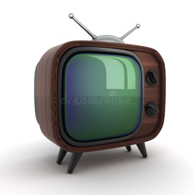Altes hölzernes Fernsehen vektor abbildung