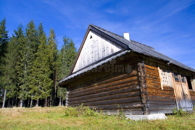 Altes hölzernes Haus stockfotografie