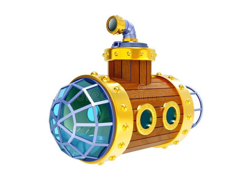 Altes hölzernes Unterseeboot vektor abbildung