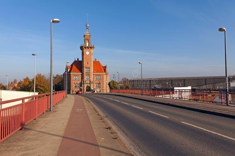 Altes Hafenamt Dortmund royalty-vrije stock foto