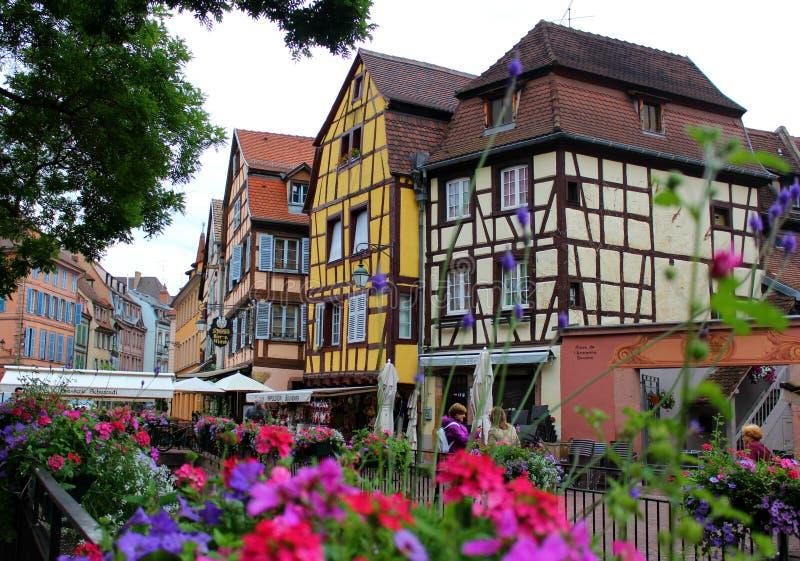 Altes Haus in der Stadt von Colmar lizenzfreie stockfotos