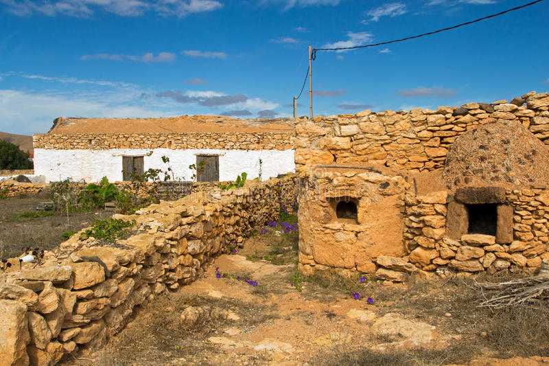 Altes Haus in Fuerteventura stockbilder