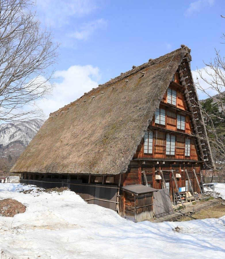 Altes Haus im shirakawako stockbilder