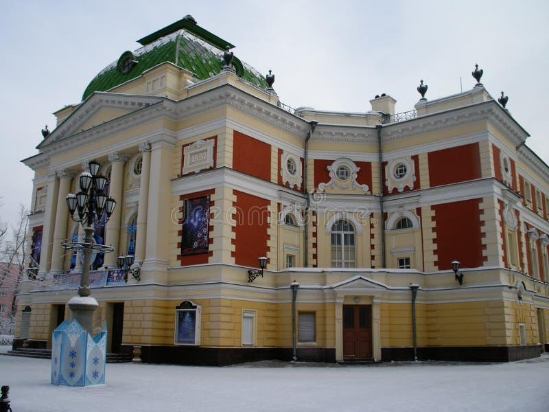 Altes Haus in Irkutsk, Russland stockfoto