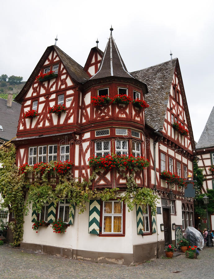 Altes Haus (Old House), In Bacharach, Germany Stock Photo - Image of ...