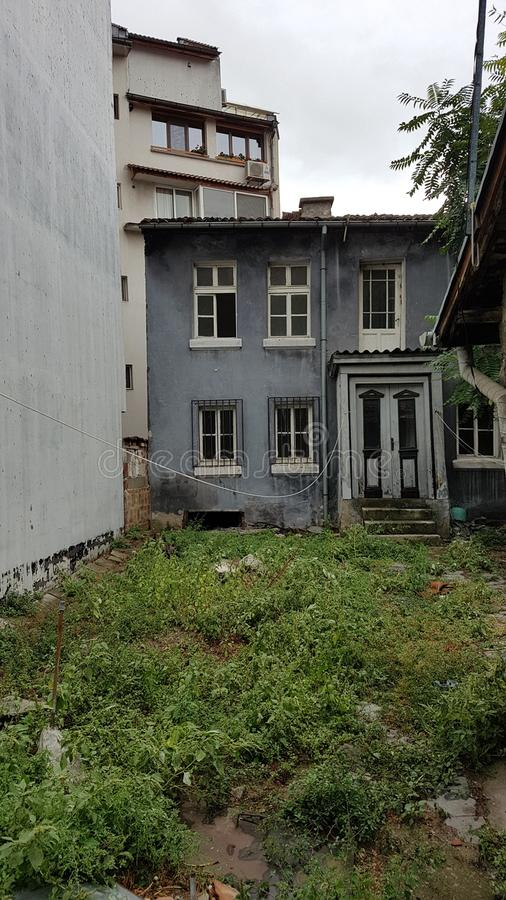 Altes Haus in Plowdiw, Bulgarien lizenzfreie stockfotos