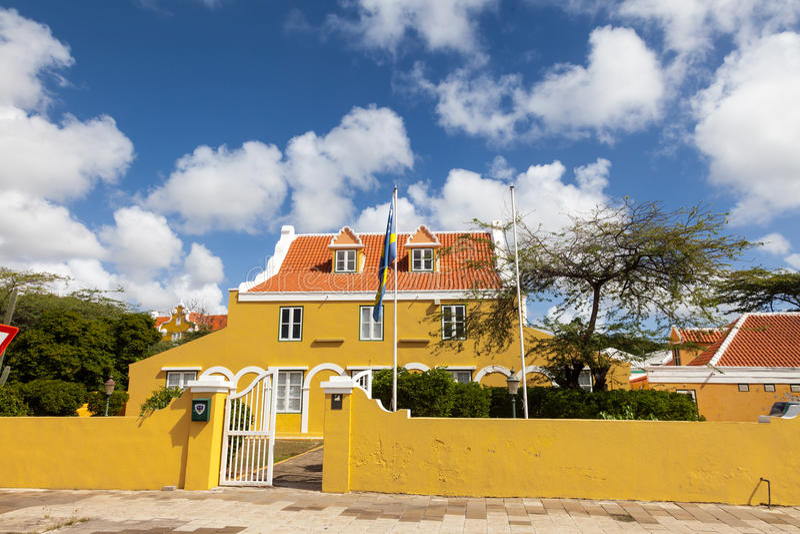 Altes Haus Punda lizenzfreie stockbilder