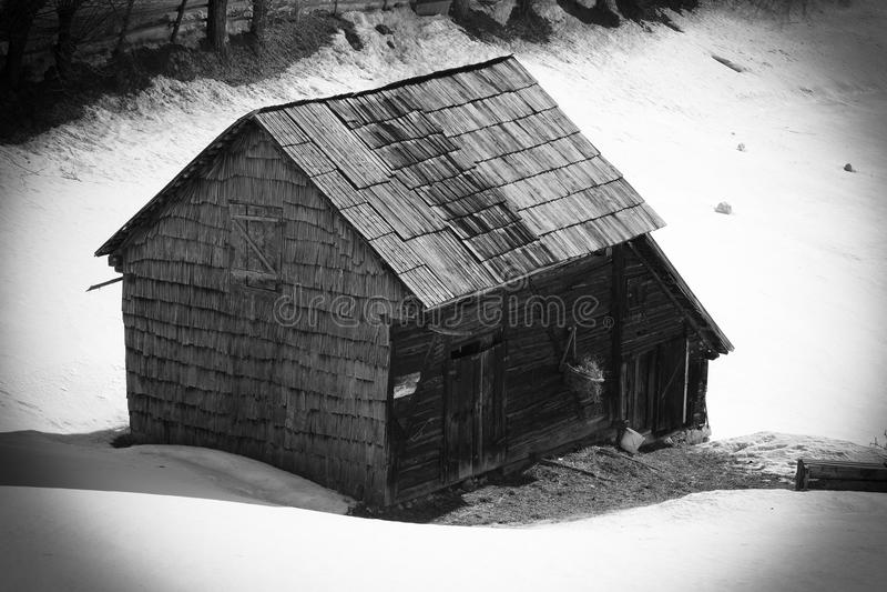 Altes Haus von Rumänien stockfotos