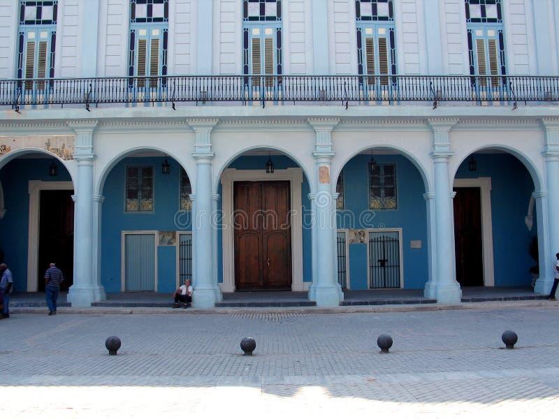Altes Havana-Gebäude lizenzfreie stockfotos