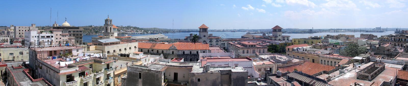 Altes Havana-Panorama lizenzfreies stockfoto