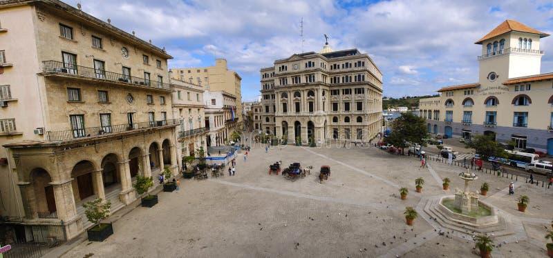 Altes Havana-Piazzapanorama stockfoto