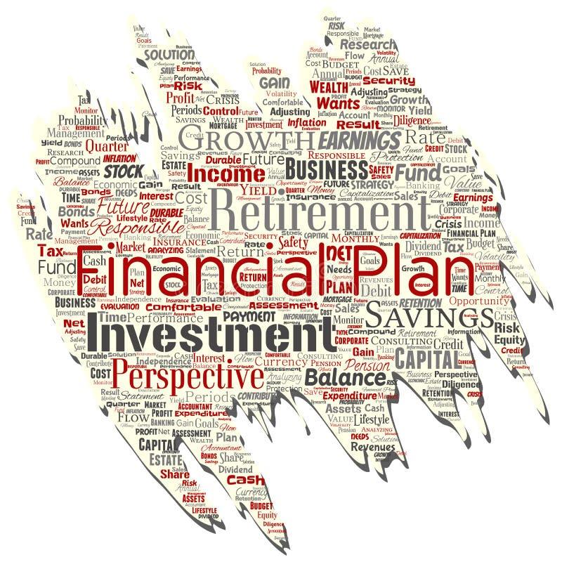 Altes heftiges Papier des Vektorgeschäfts oder des persönlichen Finanzplanes stock abbildung