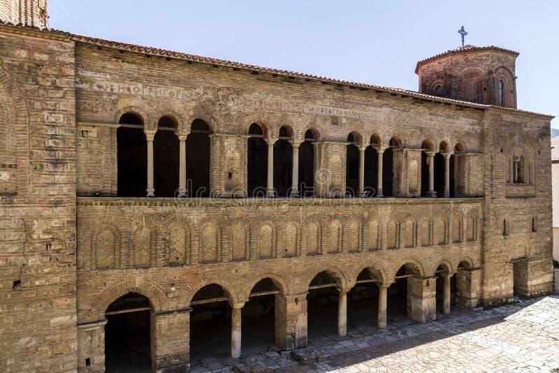 Altes Heiliges Sophia der orthodoxen Kirche in Ohrid stockfotos