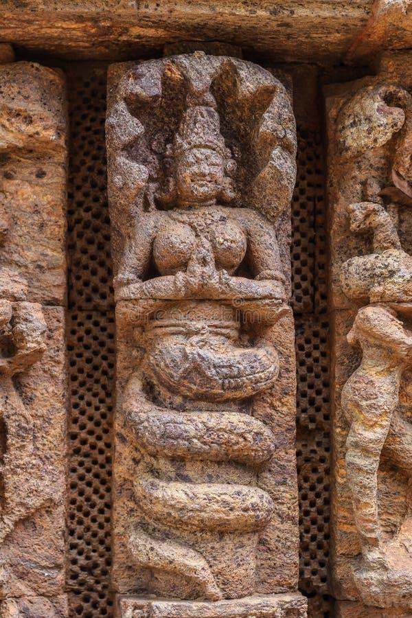 Altes hinduistischer Tempel-Schnitzen lizenzfreie stockfotografie