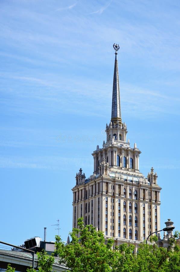 Altes hohes Gebäude in Moskau - Hotel stockfoto