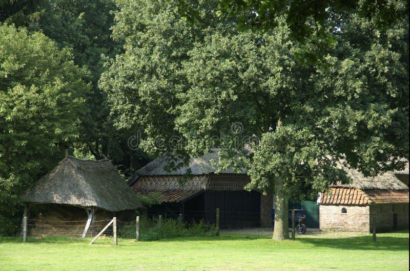 Altes holländisches Bauernhofhaus stockbilder