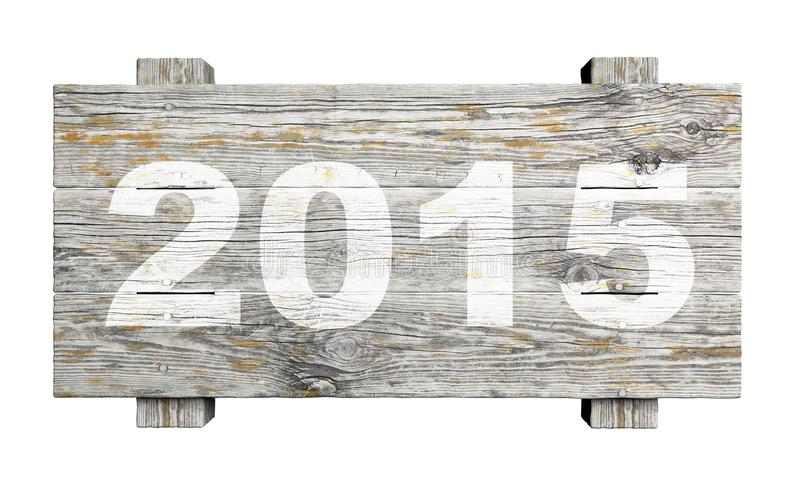Altes Holzschild mit 2015 stockfotos