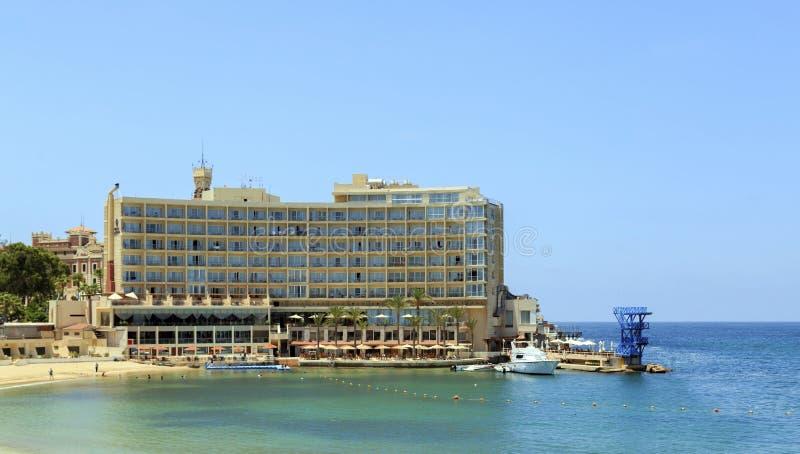 Altes Hotel in Alexandria stockfoto