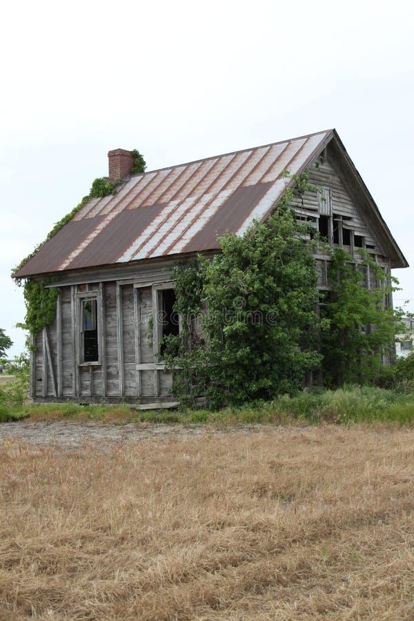 Altes Illinois-Bauernhof-Schulhaus I 2019 stockfotos