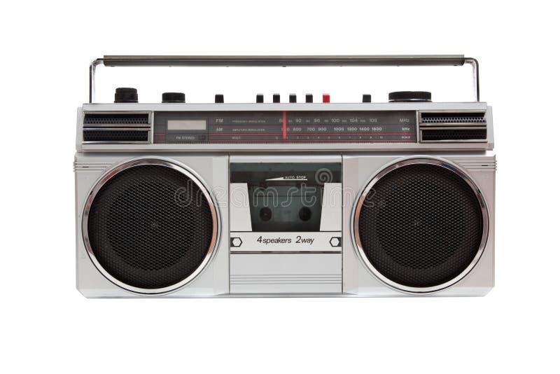 Altes jambox auf einem weißen Hintergrund lizenzfreies stockbild